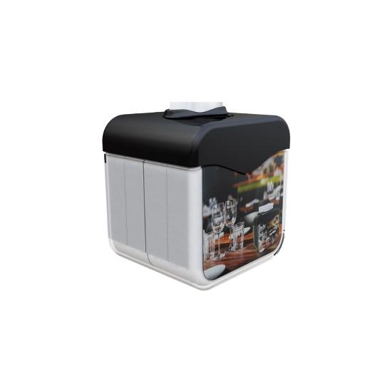 Only Evo Reklam Alanlı Masaüstü Dispenser Peçetelik