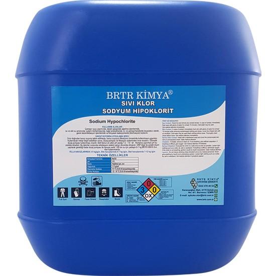 Brtr Kimya Sıvı Klor - 25 Kg (Sodyum Hipoklorit)