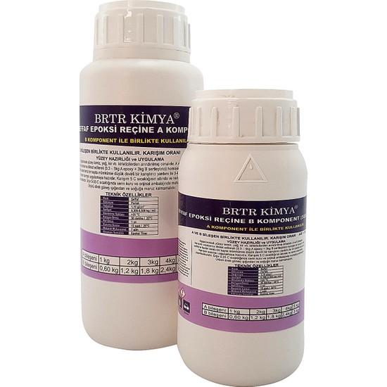 Brtr Kimya Ultra Şeffaf Epoksi 800 Gr Hobi Seti (500 Gr Reçine + 300 Gr Hardener)