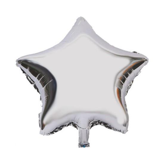 Acar Süs Gümüş Yıldız Modeli Folyo Balon 45 x 45 cm