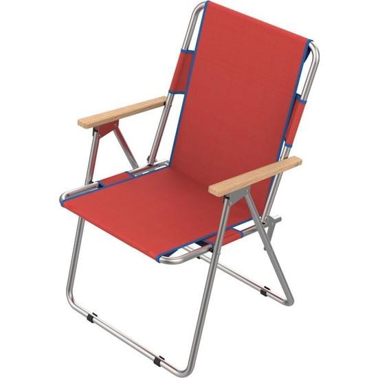 Granit Katlanır Piknik Sandalyesi, Rejisör Koltuk, Kamp Sandalyesi, Bahçe Sandalyesi Kırmızı