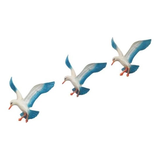 Süme Üçlü Uçan Kuş Ev Balkon Duvar Süsü Dekor