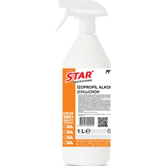 Star İzopropil Alkol C3H7OH Sprey 1 lt