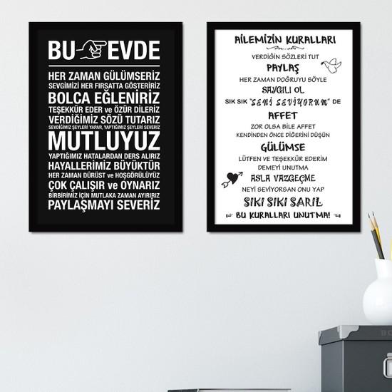 Bc Home 2 Parça Çerçeveli Poster Tablo Seti