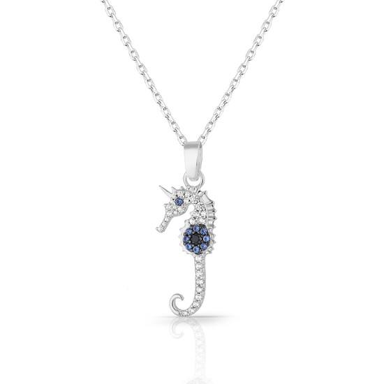 Azuris 925 Ayar Gümüş Nazar Deniz Atı Kolye