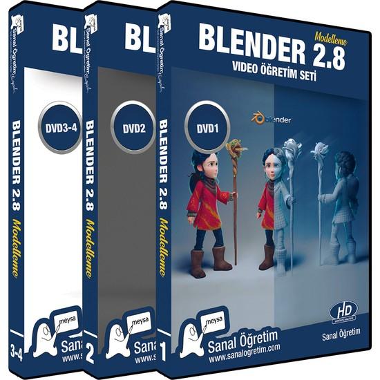 Sanal Öğretim Blender 2.8 Modelleme Renklendirm Iskeletlendirme Video Eğitim Seti