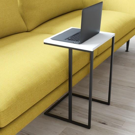 Wood House Mia Laptop Sehpası Beyaz