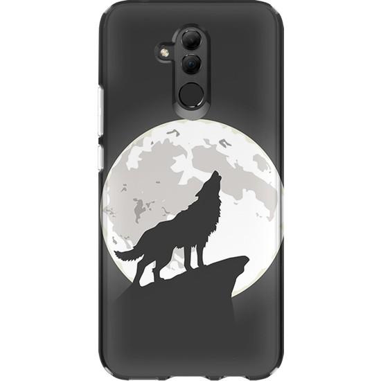 Kılıfland Huawei Mate 20 Lite Kılıf Silikon Desenli Resimli Lüx Kapak Wolf of The Moon -Stok 1064