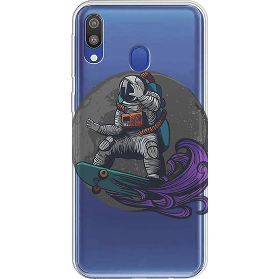 Kılıfland Samsung Galaxy A30 Kılıf A305F Silikon Resimli Kapak Astronaut Surf - 852