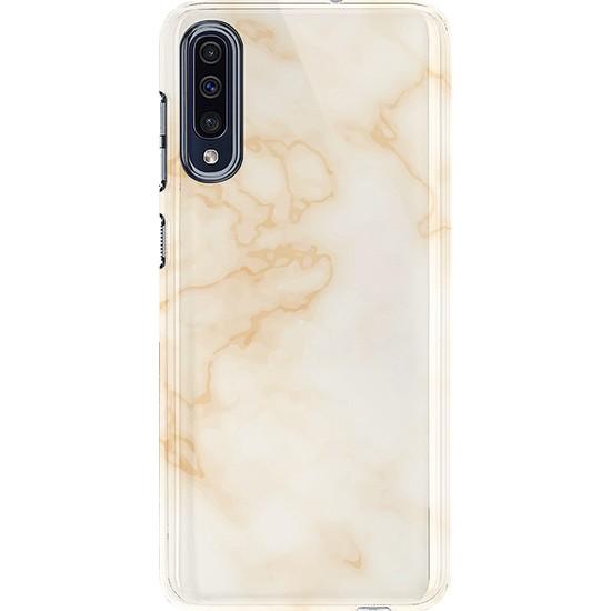 Kılıfland Samsung Galaxy A50 Kılıf A505F Silikon Resimli Kapak Watercolor Marble Mermer - 1104