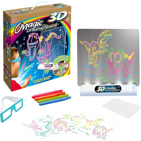Baby Londy Magic Pad LED Işıklı Yazı Tahtası 3D Gözlüklü