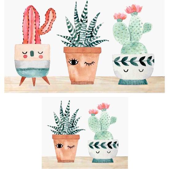 Soley Three Cactus Djt 2'li Banyo Paspas Seti Klozet Takımı 0456 01