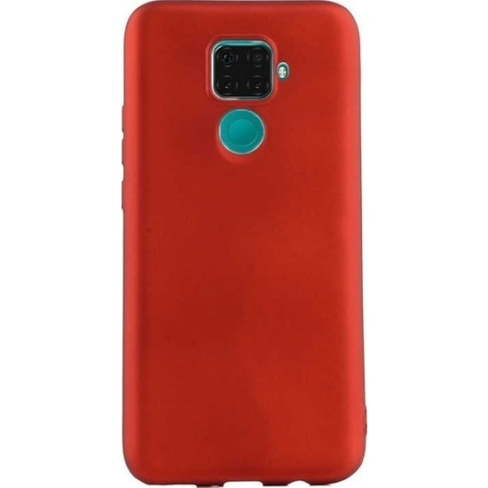 Herdem Huawei Mate 30 Lite Kılıf Ultra Lüx Soft Mat Silikon Kırmızı