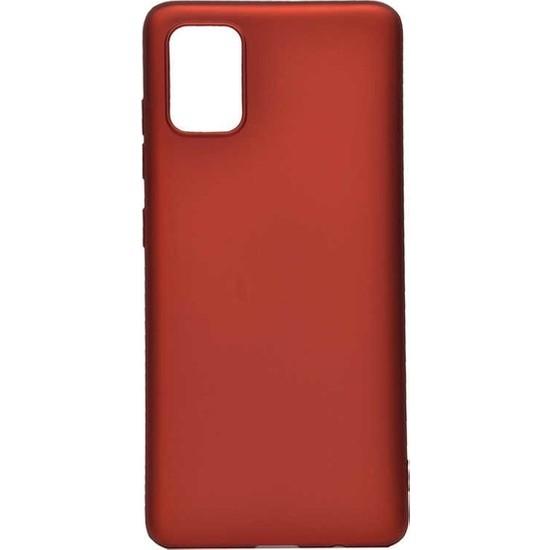 Herdem Samsung Galaxy A81 (Note 10 Lite) Kılıf Ultra Lüx Soft Mat Silikon Kırmızı
