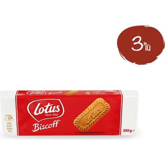 Lotus Biscoff Karamelize Bisküvi 250 gr - 3 Paket