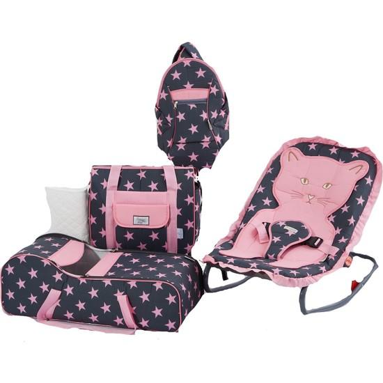 Nenny Bebek Taşıma Seti 5'li - Pembe