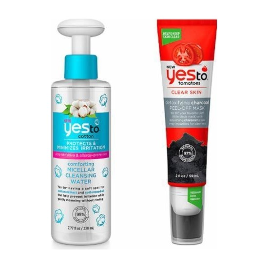 Yes To Pamuk Rahatlatıcı Micellar Temizleme Suyu 230 Ml+Kömür Arındırıcı Soyulabilir Maske 59 ml