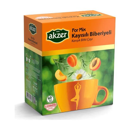 Akzer For-mix Biberiye kayısılı Çay 60lı