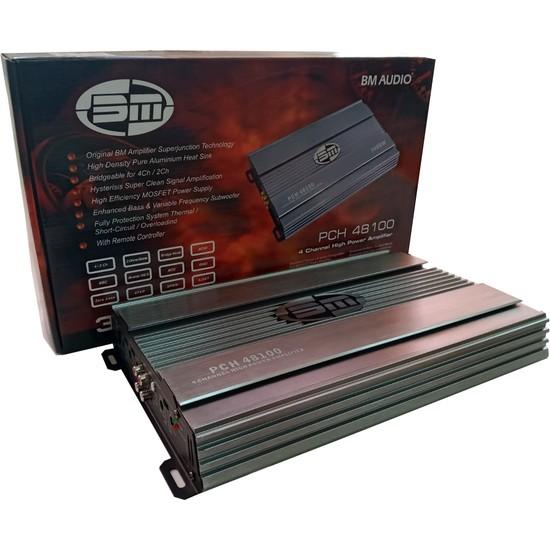 BM PCH48100 3000W 4 x 60 RMS Bass Control Anfi