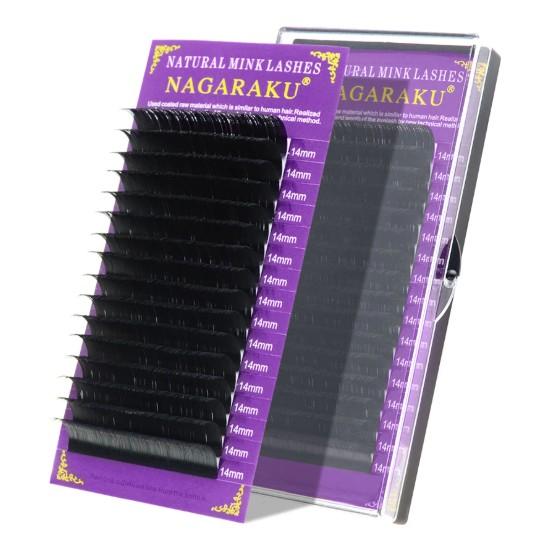 Nagaraku Ipek Kirpik Vizon Kirpik C Kıvrım 0,07MM 9 mm Uzunluk