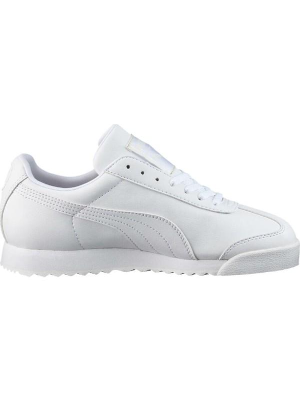 Puma Roma Basic Jr-2 Beyaz Erkek Çocuk Sneaker Ayakkabı