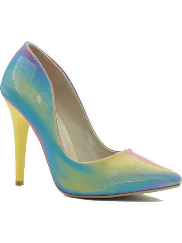 Park Moda Kadın Topuklu Ayakkabı 309-500 Sarı
