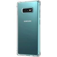 Herdem Samsung Galaxy S10E Kılıf Kenarları Zırh Ultra Koruma Antishock Şeffaf Sert Silikon