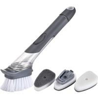 Wepools Deterjan Hazneli Bulaşık Fırçası Temizlik Süngeri 3 Başlıklı