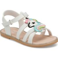 Polaris 512280.P Beyaz Kız Çocuk Sandalet