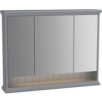 VitrA Valarte 62235 Aydınlatmalı Dolaplı Ayna 100 cm Mat Gri