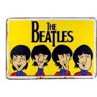 Carma Concept The Beatles Animasyon Metal Duvar Konser Posterleri Retro Müzik Panoları