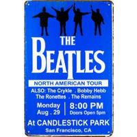Carma Concept The Beatles Blue Metal Duvar Konser Posterleri Retro Müzik Panoları