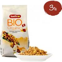 Familia Bio Organik Ballı Bademli 375 gr - 3 Paket