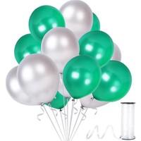 Kullan At Party Yeşil-Gümüş Metalik Sedefli Balon