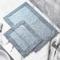 Alanur Home Salina Cotton Makarnalı 2'li Paspas Gri