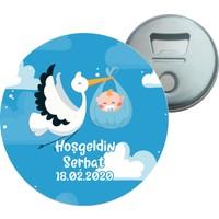 Grafilli Design Hoşgeldin Bebek Kişiye Özel Magnet Açacak 10 Adet - 0020