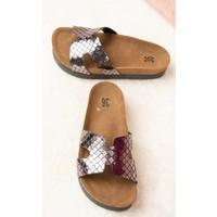 Fox Shoes Platin Kadın Terlik F777771507
