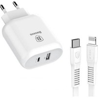 Baseus Hızlı Şarj Aleti Type-C Pd 30W USB Portlu Lightning Kablo