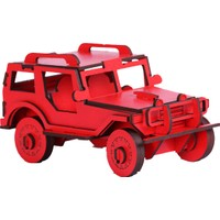 Pershang Ahşap Jeep 3 Boyutlu Yapboz