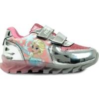 Frozen Kız Çocuk Işıklı Gümüş Renk Spor Ayakkabı