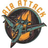 Sticker Fabrikası Savaş Uçağı Sticker 00036 14 x 14 cm Renkli