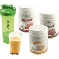 Slim Active Kilo Verme Amaçlı Öğün Yerini Alan Gıda Çikolata Çilek ve Muz Aromalı 3'lü Paket Süt Protein L-Carnitin CLA Prebiyotik Stevia