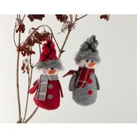 Englısh Home Snow Holiday Askılı Aksesuar 5 x 5 x 9 cm Kırmızı