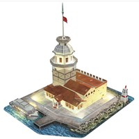 CubicFun 3D Puzzle Kız Kulesi L181H (LED Aydınlatmalı)
