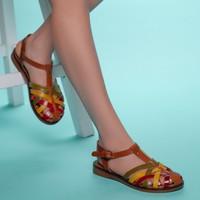 Muggo INFW313 Deri Kadın Sandalet