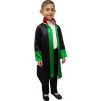 Kostümce Çocuk Avukat Cübbesi Erkek Kız Uyumlu