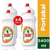 Fairy Sıvı Bulaşık Deterjanı Portakal 1350 ml 4'lü