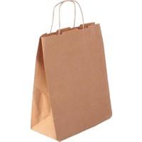 Kraft Çanta Kağıt Poşet Çanta 25'li 14 x 16 x 7 cm