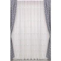 Odeon Yıldızlı Beyaz Pileli Tül Perde 180 x 260 cm