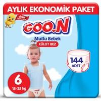 Goon Mutlu Bebek Külot Bez 6 Beden Aylık Ekonomik Paket 144 Adet